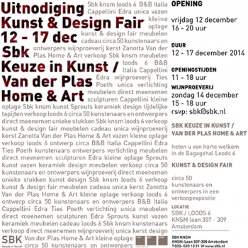 KUNST & DESIGN FAIR SBK EN VAN DER PLAS HOME & ART