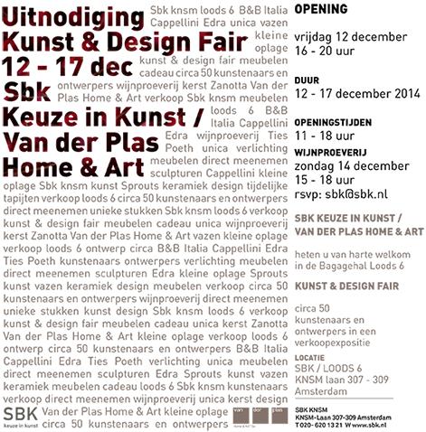 KUNST & DESIGN FAIR SBK EN VAN DER PLAS HOME & ART