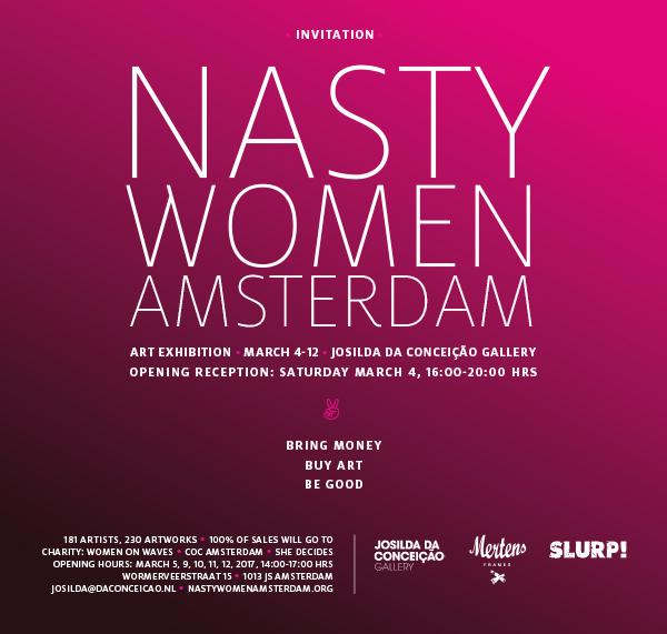 NASTY WOMEN ART EXHIBITION AMSTERDAM