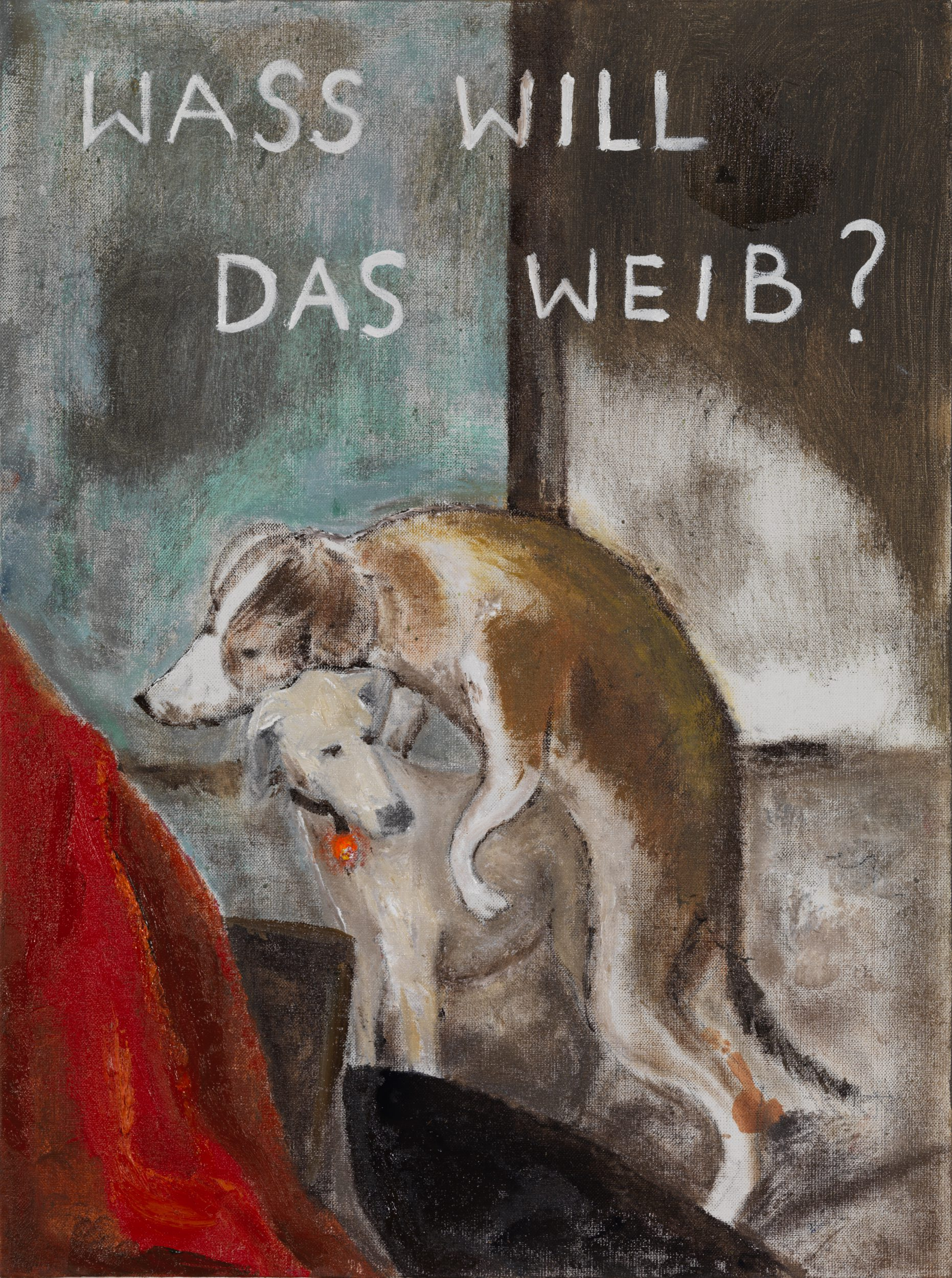"Wass Will Das Weib ? Based on a detail of ""Brothelscene"" by Frans Van Mieris The Elder c1658-59"
