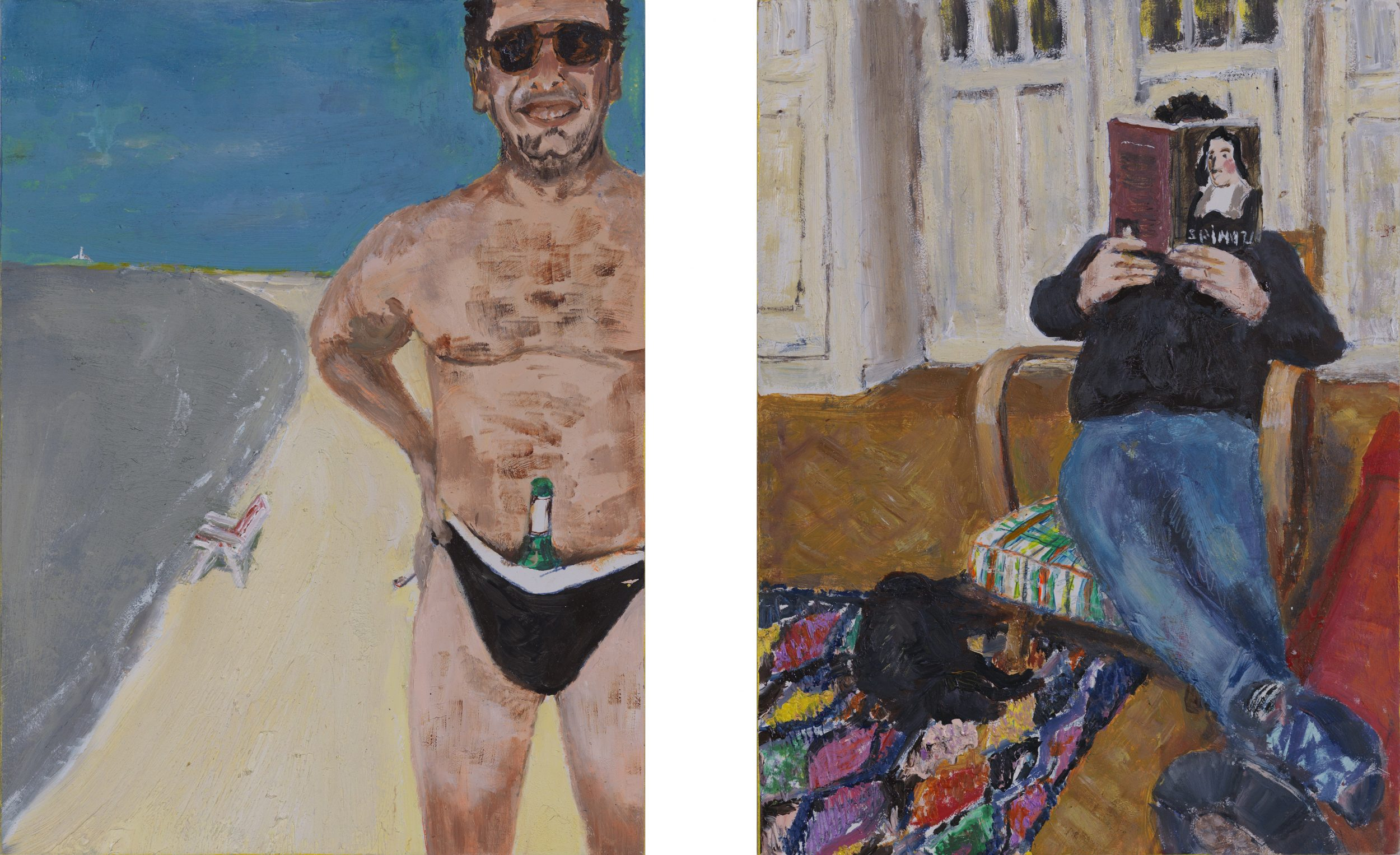 From the series All Artists, 'Katwijk's Wonderboy', portrait of Sebastiaan (diptych)