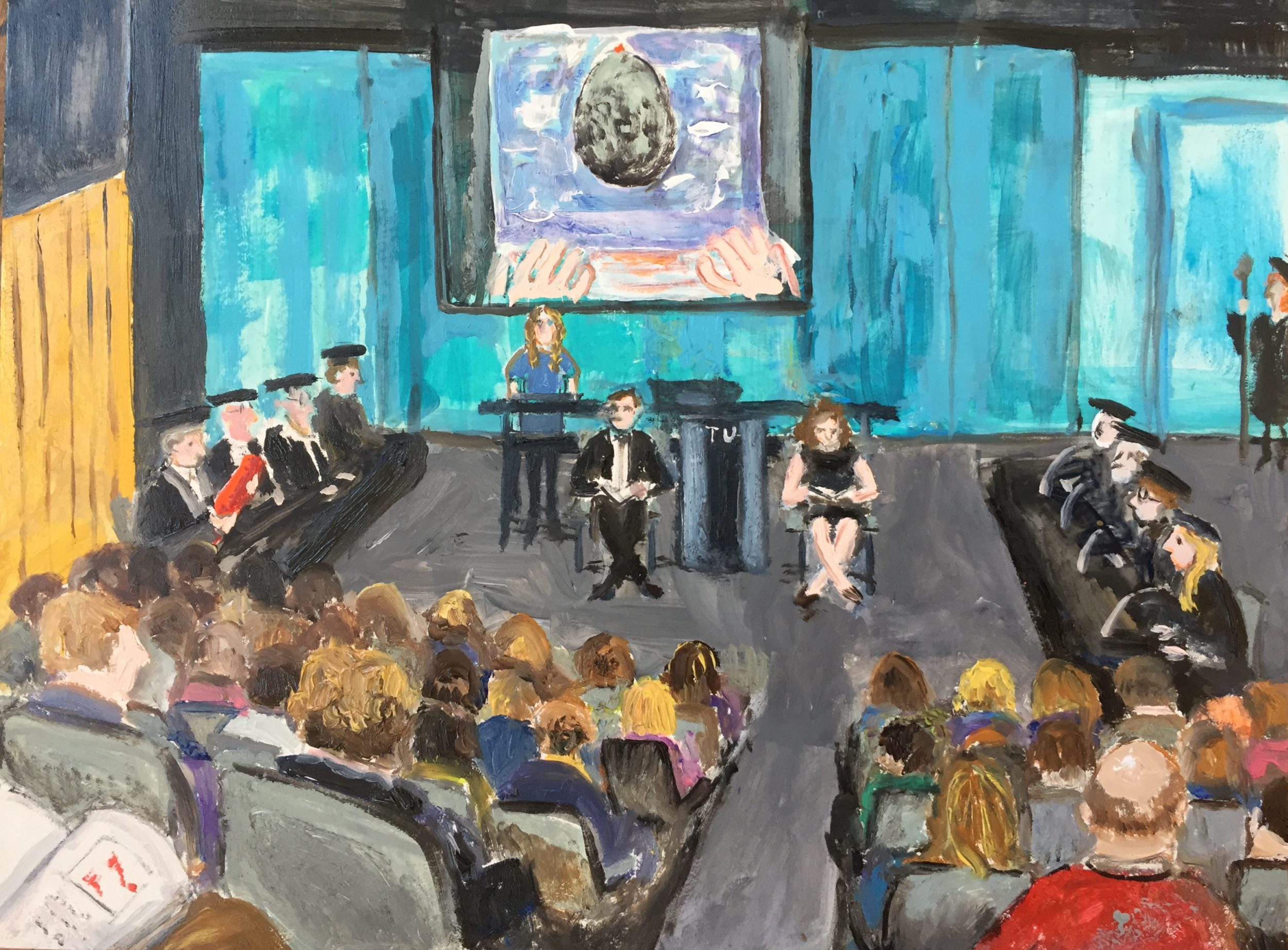 Commissioned work, Live Report of the defense of a doctoral thesis at Delft University