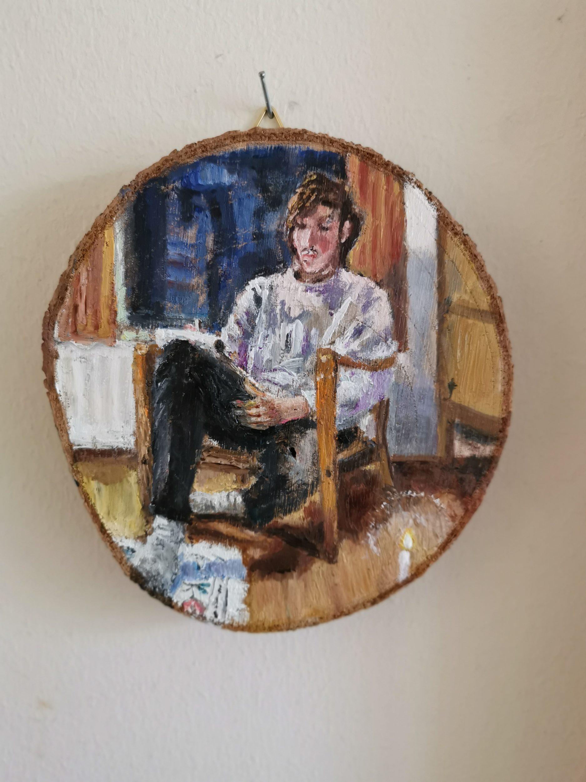 Portrait of writer Sebastiaan Mets